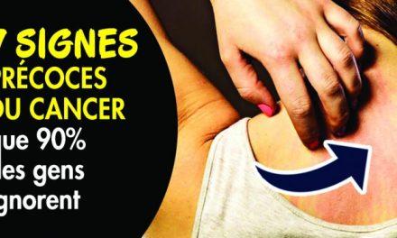 Les 7 signes précoces du cancer que 90% des gens ignorent