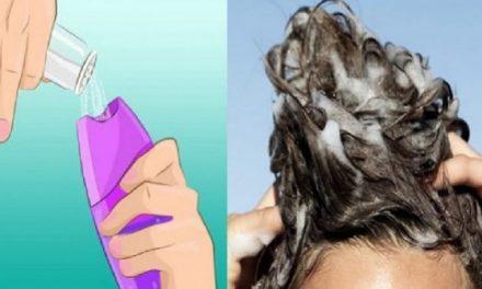 Ajoutez du sel dans votre shampoing avant de vous doucher. Cette astuce résout l'un des plus gros problèmes des cheveux